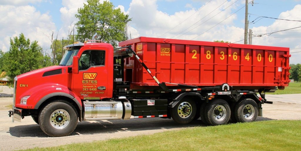 Estes Waste offers a variety of roll off dumpsters in southern Indiana and Louisiville. Roll off containers come in 10 yard, 15 yard, 20 yard, 30 yard and 40 yard.